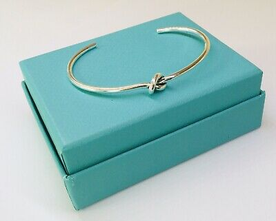 NEW STERLING SILVER TIGHT KNOT BANGLE BRACELET 6cm DIAM ADJUSTABLE STAMPED S925 • 14.99£