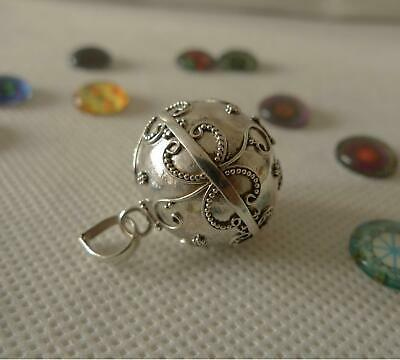 Harmony Ball/Mexican Bola Sterling Silver Pendant 20mm SilverandSoul Jewellery • 33£