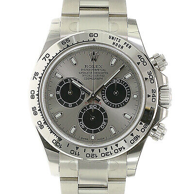 $ CDN58882.74 • Buy Rolex Daytona Cosmograph Watch 18K White Gold Grey Index Dial 40mm 116509 - NEW