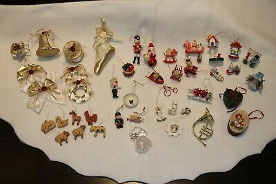 $ CDN3.91 • Buy Lot Of 40+ VINTAGE Christmas Ornaments * MUST SEE * Wooden
