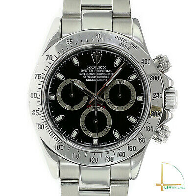 $ CDN29386.55 • Buy Rolex Daytona Watch Mens Stainless Steel Black Index Oyster Band 116520 40mm