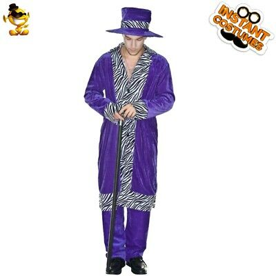 $ CDN37.19 • Buy Men's Purple Leopard Printing Costumes Halloween Party Stage Performance Outfits