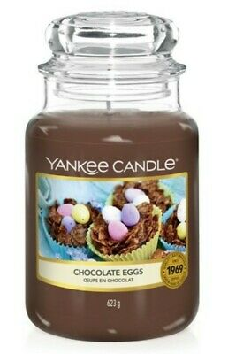 🍫Large Yankee Candle Jar - Chocolate Eggs - NEW OTHER 🍫 • 16.99£