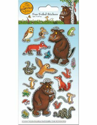 The  GRUFFALO FOILED Sticker Pack Reusable Stickers Childrens Party Gift • 1.95£
