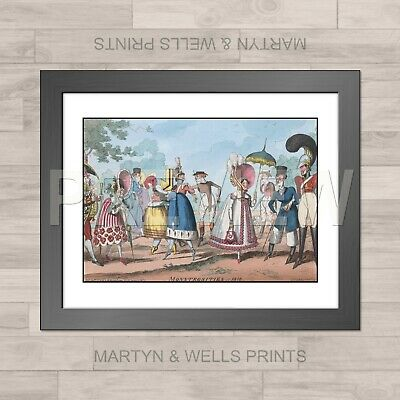 George Cruikshank Framed Print: Monstrosities Of 1818. On Textured Canvas Paper. • 17.75£