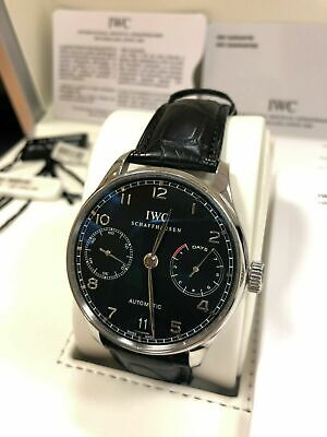 Iwc - Portuguese 7 Day Power Reserve - Stainless Steel - Iw500109 • 5,495£