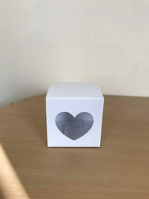 £5.99 • Buy 10 Cm X 10cm Party Favour Card Gift Box With Heart Shaped Window X 10