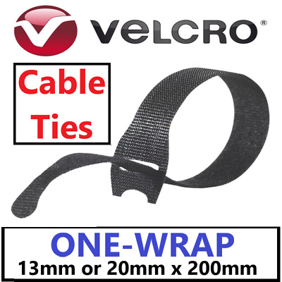 VELCRO® Brand ONE-WRAP® Cable Ties Strapping Hook & Loop Cable Tidy Straps • 6.95£