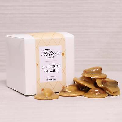 £18.99 • Buy Friars Buttered Brazils Gift Box Crunchy Whole Nut Brittle Butter Toffee 450g
