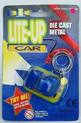 $7.99 • Buy Die Cast Metal Car W/ Lights Key Ring/Keychain Lite-Up NEW Batteries Included