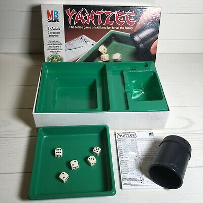 YAHTZEE Original Vintage Dice Game 1985 By MB Games Family Dice Game 8 Years + • 12.99£