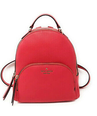 $ CDN134.09 • Buy ❤️NWT Kate Spade Jackson Medium Pebbled Leather Backpack Bag In Red