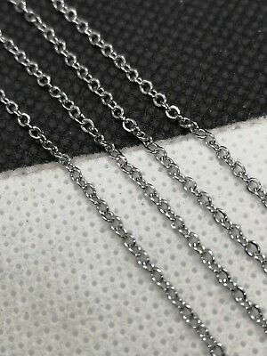 £2.75 • Buy 304 Stainless Steel Cable Chain Hypoallergenic Soldered 1.5mm By Meter (PHCC 17)
