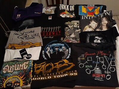 $ CDN195.50 • Buy Lot Of 15 Men For Vintage Band Tour Modern Graphic Short Sleeve T-Shirt Size XL