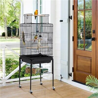 £52.89 • Buy 136cm Metal Play Top Bird Cage For Small Birds Lovebirds Cockatiel With Stand