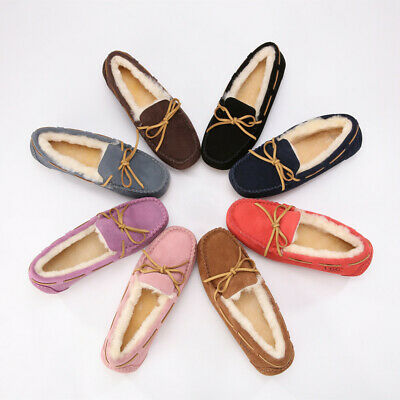 AU43.69 • Buy UGG Slippers Sheepskin Moccasins Women's Shoes Ladies Slippers Water Resistant