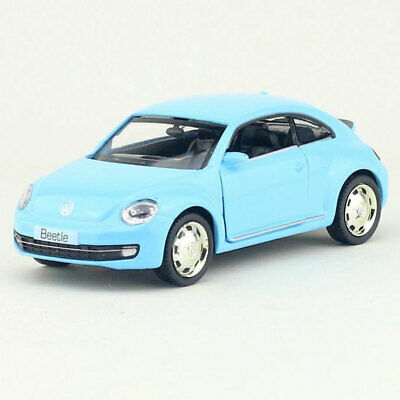 1:36 VW Beetle 2012 Model Car Alloy Diecast Toy Vehicle Pull Back Blue Kids Gift • 13.34£