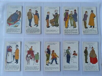 24  Churchman Cigarette Cards  Phil May Sketches  1912 • 35£