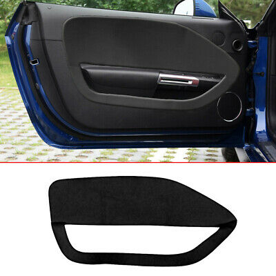 $14.49 • Buy 2pcs Faux Leather Door Panel Insert Cards Black For Ford Mustang 2005-2009 Black