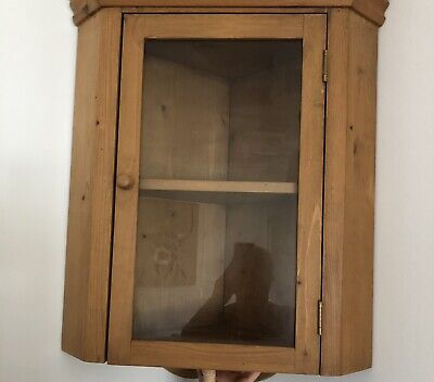 Solid Pine Corner Wall Cabinet • 70£