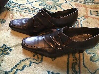 Bronze Metallic Leather 'BROADWAY' Trouser Shoes HOTTER Size 4 / 37 • 4.90£