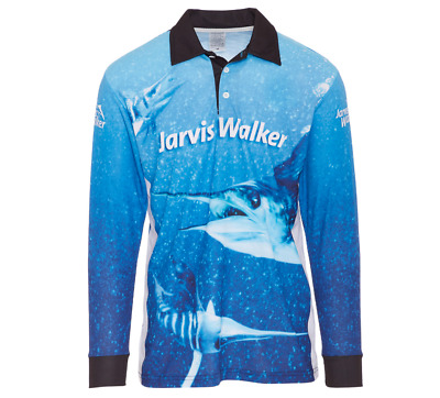 AU44.95 • Buy Jarvis Walker Long Sleeve Tournament Fishing Shirt With Collar-Fishing Jersey