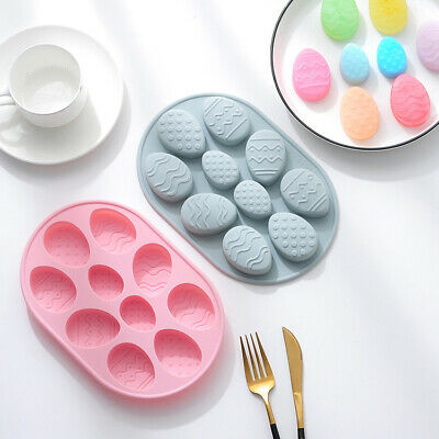 Easter Egg Cake Jelly Cookie Soap Mold Chocolate Baking Candy Topper Mould Decor • 3.59£