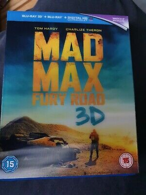 Mad Max: Fury Road (3D + 2D Blu-ray, 2015, 2-disc Set) + Lenticular Slip Cover • 3.20£