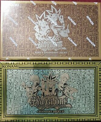 YuGiOh Legendary Decks 1 & 2, Exodia, Egyptian God Cards ULN Edition • 13.50£