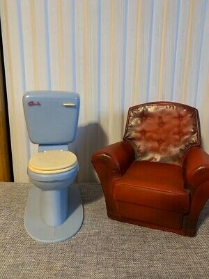 Sindy Toilet & Armchair - Doll House Furniture - 80s 90s Vintage • 6.50£
