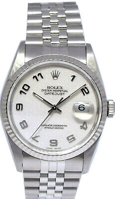 $ CDN6812.14 • Buy Rolex Mens Datejust Stainless Steel White Jubilee Dial Automatic Watch 16234