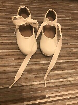 Girls White Tap Dance Shoes Size 8 - New • 3.60£
