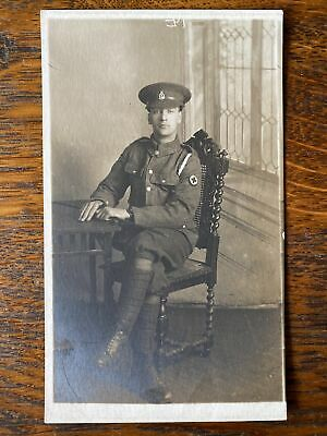 WW1 Photographic Postcard British Soldier RAMC In Uniform • 2£