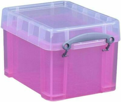 Really Useful Strong,Pink Plastic 3 Litre CD / DVD  STORAGE BOX • 7.99£