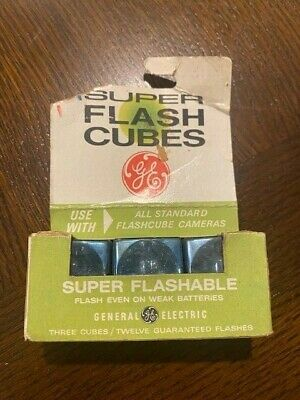 $6 • Buy Vintage GE Flash Cubes For All Flashcube Cameras
