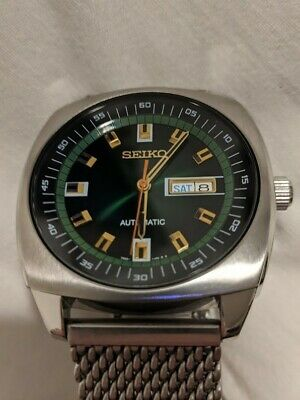 $ CDN79.51 • Buy New Seiko SNKM97 Recraft Green Dial Stainless Steel Automatic Men's Watch