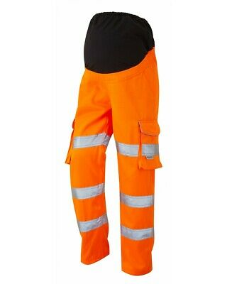 £58.45 • Buy Leo Verity Maternity High Visibility ISO 20471:2 RIS3279 Work Cargo Trousers