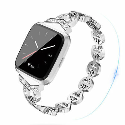 $ CDN12.36 • Buy Stainless Steel Band Replacement Luxury Bracelet Strap For Fitbit Versa Lite