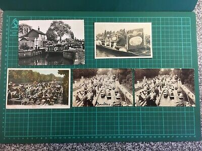 Five Postcards Of Boulters Lock Maidenhead/Swan Upping. 1900's - 1930's • 0.90£