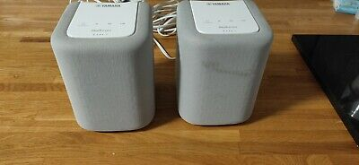 Pair Of Yamaha MusicCast WX010 Wireless Speakers With Bluetooth & Airplay White • 80£
