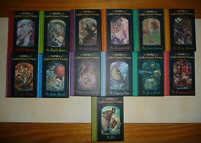 Lemony Snicket - A Series Of Unfortunate Events Complete Collection 13 Books (Ha • 10.99£