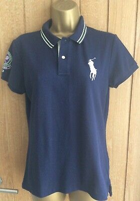 Polo Ralph Lauren Wimbledon Tennis 2013 Ball Girls Polo Top Short Sleeved Size L • 14.99£
