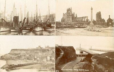 Real Photographic Multiview Postcard Of Whitby, North Yorkshire By Ross #25 • 10£