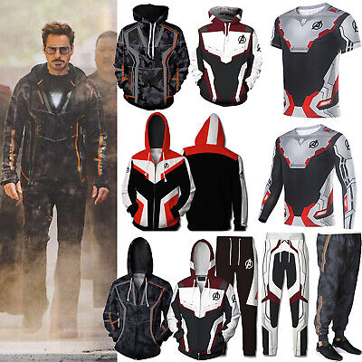 Marvel Avengers Iron Man Hoodie Sweatshirt Pullover T-Shirt Coat Outfit Trousers • 16.33£