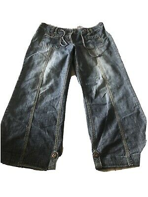 Next 14R Jeans Slouch Mid Blue Wash Vintage Look  • 6.99£