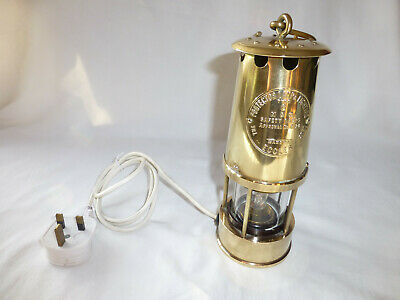 Miners Brass Eccles Safety Protector Lamp Type 6 Electric Lamp Conversion • 51.95£