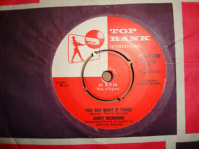 Janet Richmond,  You Got What It Takes,  Top Rank Records 1960 Ex/ex+ • 2.99£