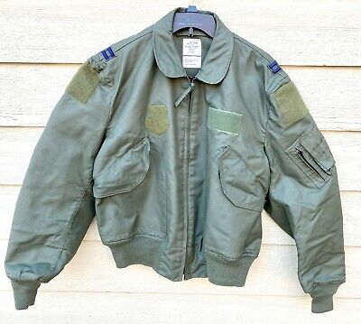 $ CDN297.44 • Buy Genuine Usaf Green Nomex Fire Resistant Summer Flyers Jacket Cwu-36/p - Large