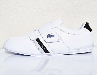 LACOSTE Misano Strap 120 1 Men's Casual Leather Loafer Shoes Sneakers White Blk • 72.35£