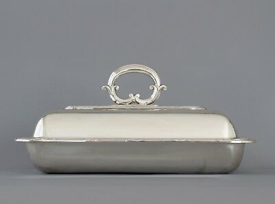 A Good Silver Plate Entree Dish • 200£